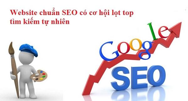 Website thiết kế chuẩn SEO có thứ hạng tốt trên Google