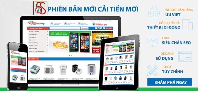Thiết kế website giới thiệu sản phẩm với Tech5S